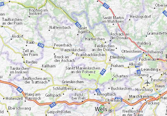 Karte Stadtplan Prambachkirchen