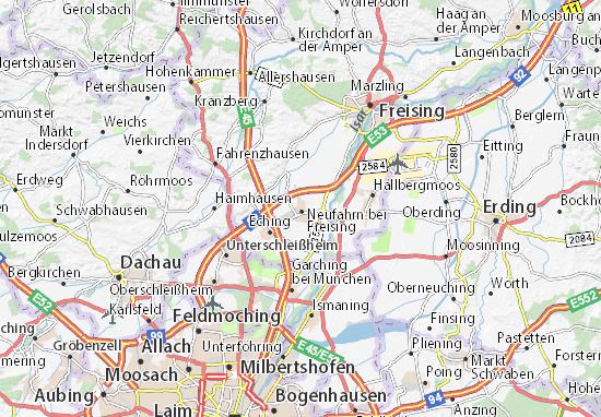 Carte-Plan Neufahrn bei Freising