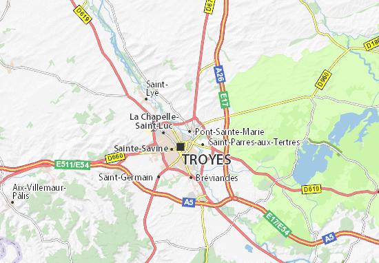 Carte-Plan Pont-Sainte-Marie