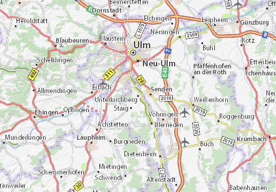 Unterkirchberg Map