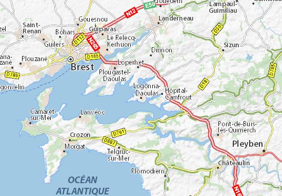 Logonna-Daoulas Map