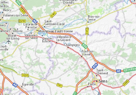 Kaart Plattegrond Champigny