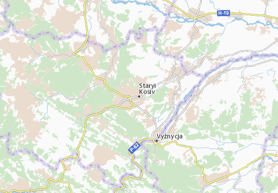Mappe-Piantine Staryi Kosiv