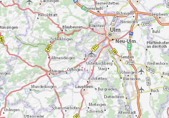 Karte Stadtplan Erbach