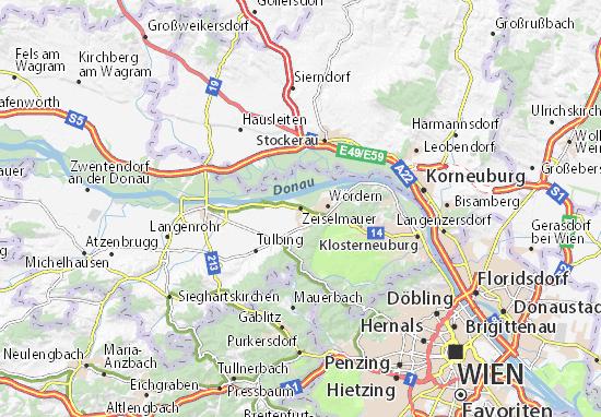 Karte Stadtplan Zeiselmauer