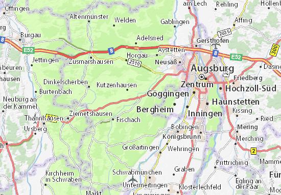 Gessertshausen Map