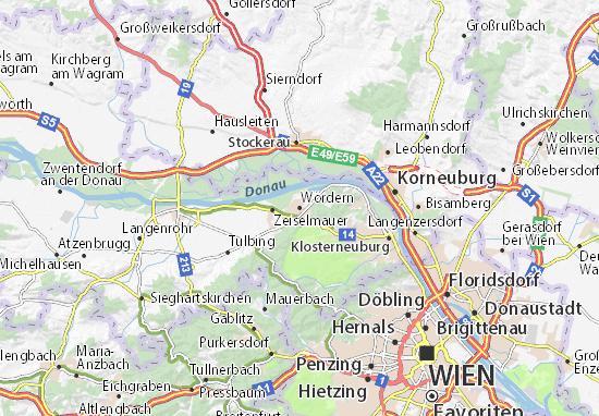 Karte Stadtplan Wördern