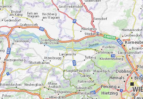 Karte Stadtplan Tulln an der Donau