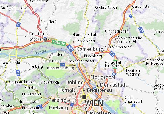 Karte Stadtplan Bisamberg