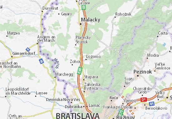 Karte Stadtplan Lozorno