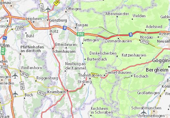 Burtenbach Map