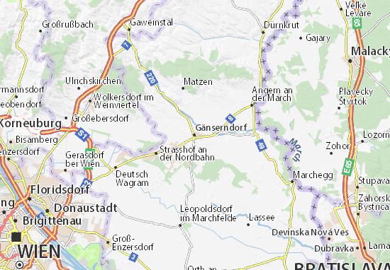 Carte-Plan Gänserndorf