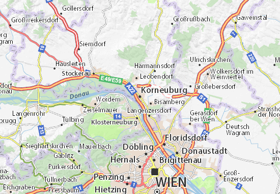 Karte Stadtplan Korneuburg