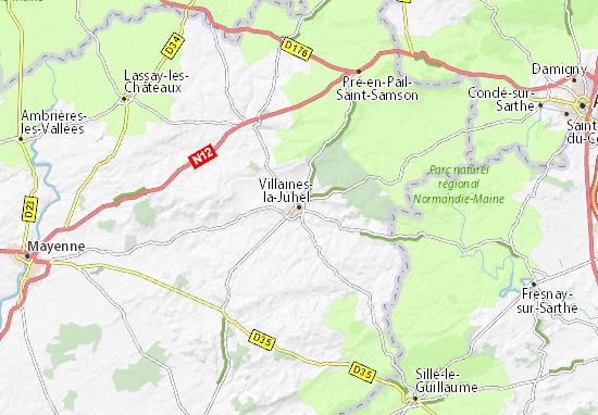 Carte-Plan Villaines-la-Juhel