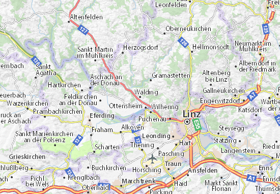 Karte Stadtplan Walding