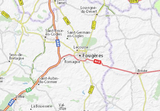 Mapas-Planos Fougères