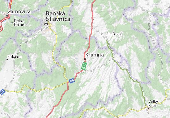 Mapas-Planos Krupina