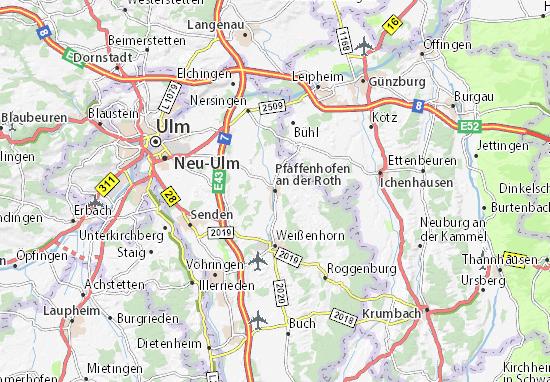 Pfaffenhofen an der Roth Map