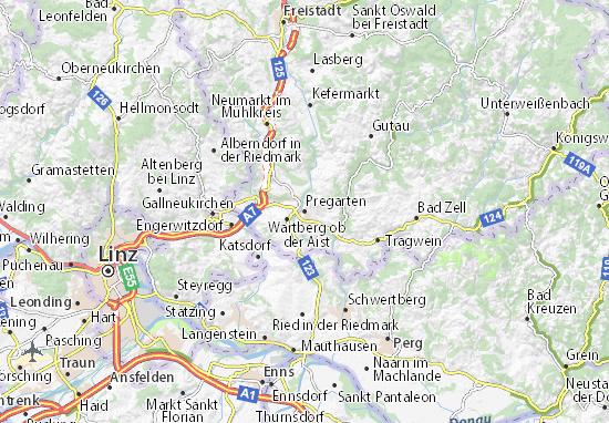 Karte Stadtplan Pregarten