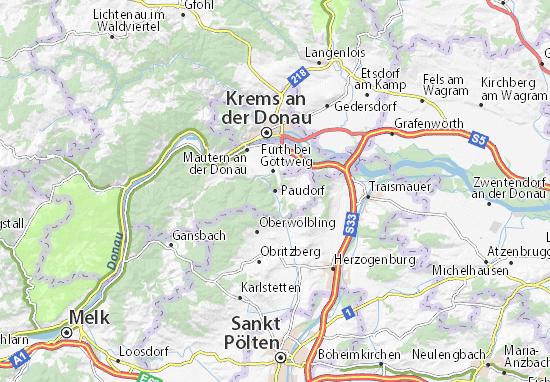 Map Of Paudorf Michelin Paudorf Map Viamichelin