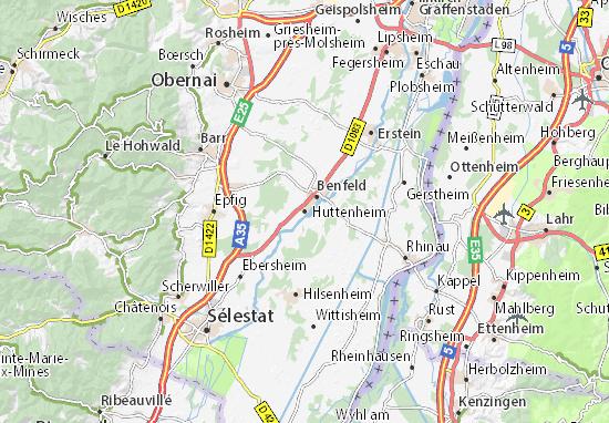 Mapa Plano Huttenheim