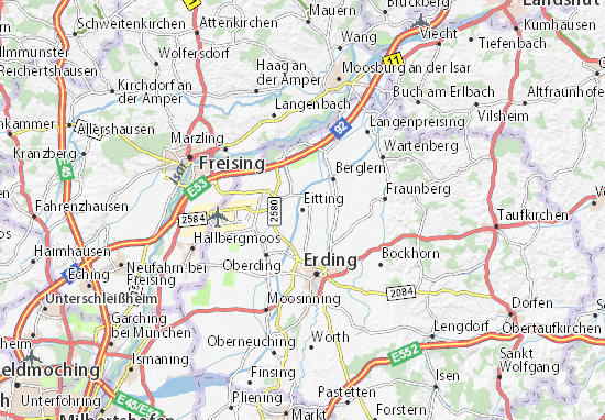 Karte Stadtplan Eitting