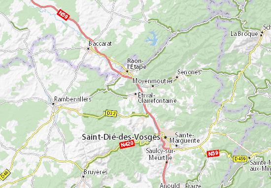 Mapas-Planos Étival-Clairefontaine