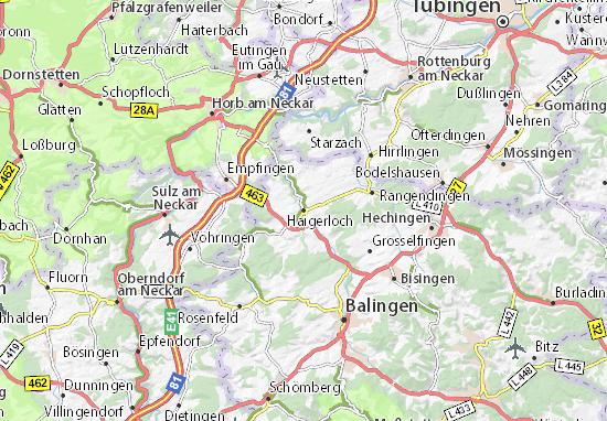 Karte Stadtplan Haigerloch