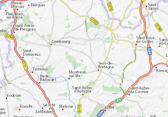 Kaart Plattegrond La Fresnais