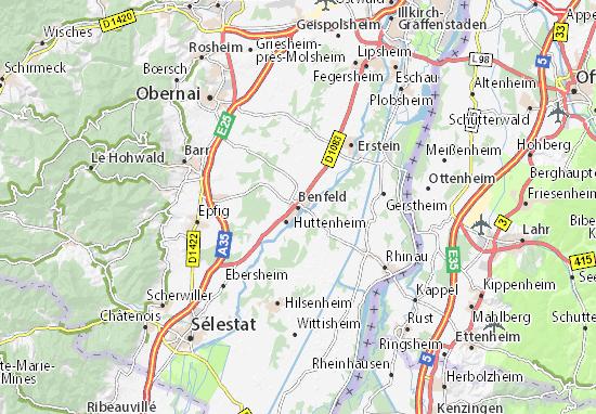 Karte Stadtplan Benfeld