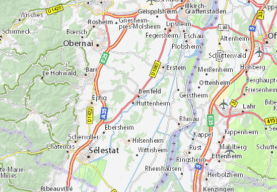 Carte-Plan Benfeld