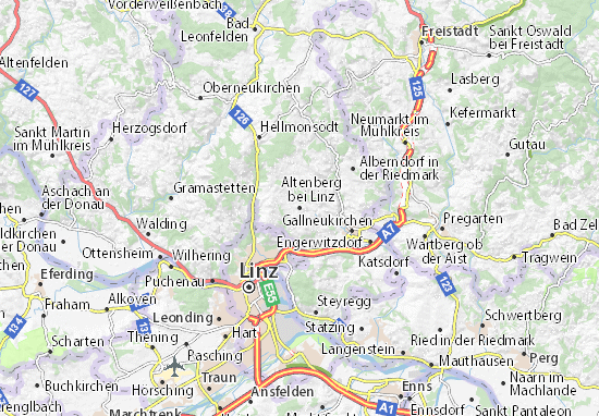 Carte-Plan Altenberg bei Linz