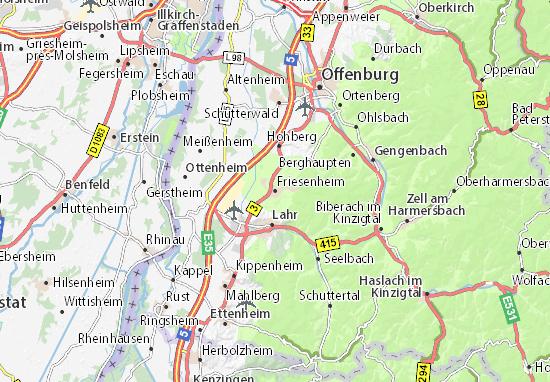 Kaart Plattegrond Friesenheim