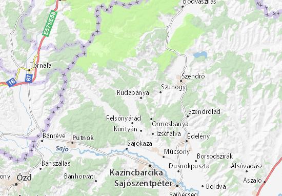 Rudabánya Map