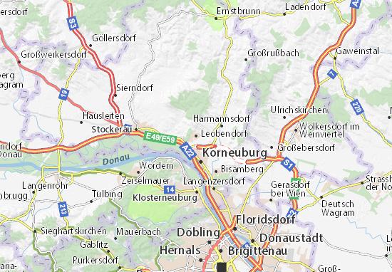 Karte Stadtplan Leobendorf