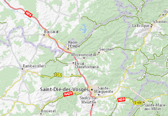 Karte Stadtplan Moyenmoutier