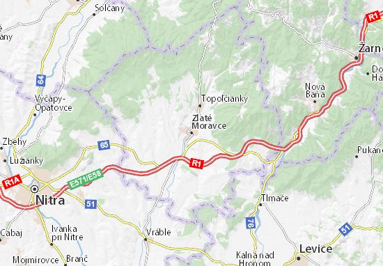 Mapas-Planos Zlaté Moravce