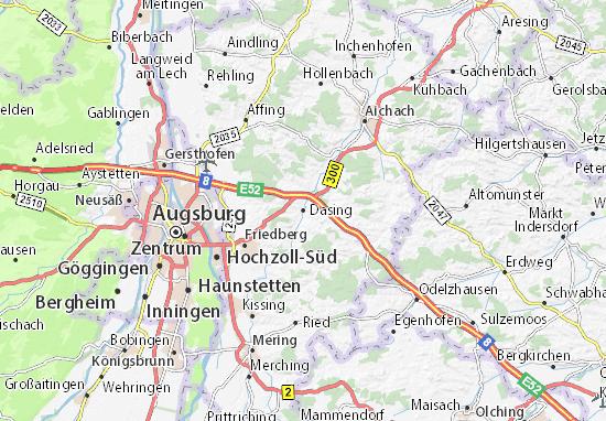 Karte Stadtplan Dasing