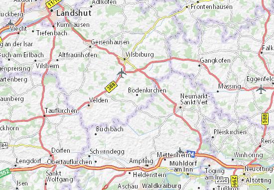 Carte-Plan Bodenkirchen