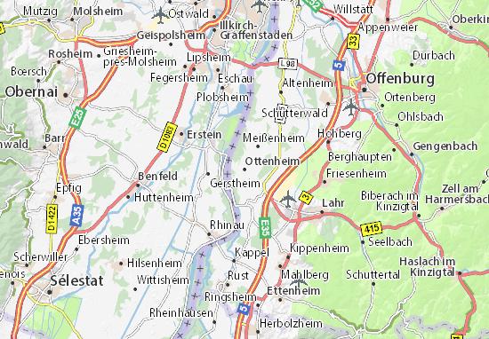 Kaart Plattegrond Ottenheim