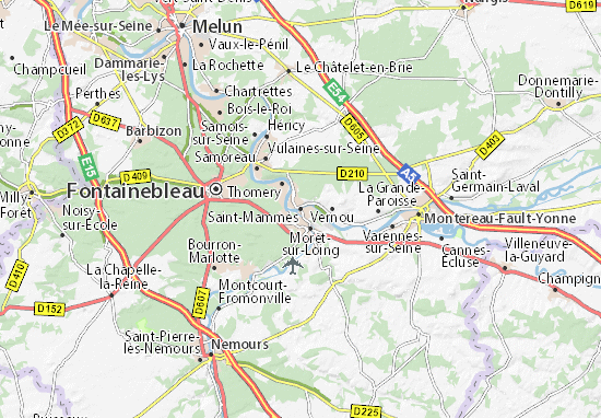 Saint-Mammès Map