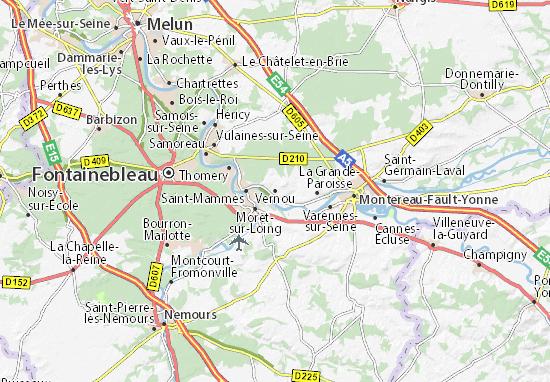 Vernou Map