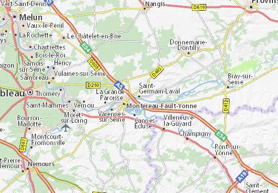 Mapa Plano Saint-Germain-Laval