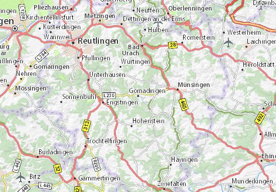 Mapa Plano Gomadingen