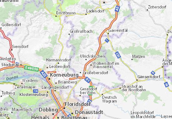 Karte Stadtplan Ulrichskirchen