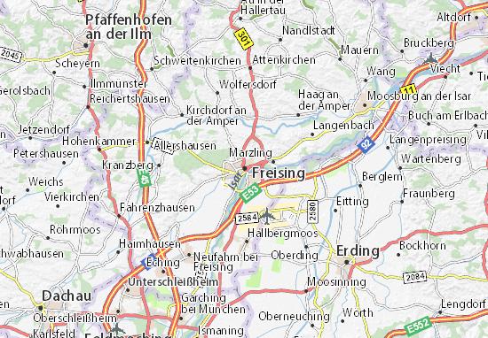 Karte Stadtplan Freising