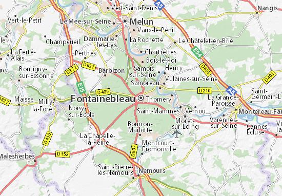 Kaart Plattegrond Fontainebleau