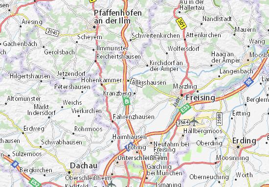 Karte Stadtplan Kranzberg