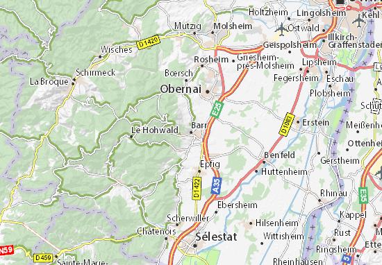Karte Stadtplan Barr