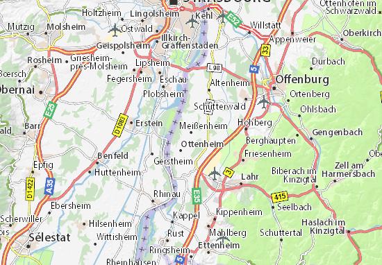 Karte Stadtplan Meißenheim
